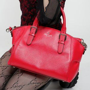 KATE SPADE LARGE LEATHER RED BAG